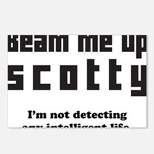 beam me up scotty Postcards (Package of 8)