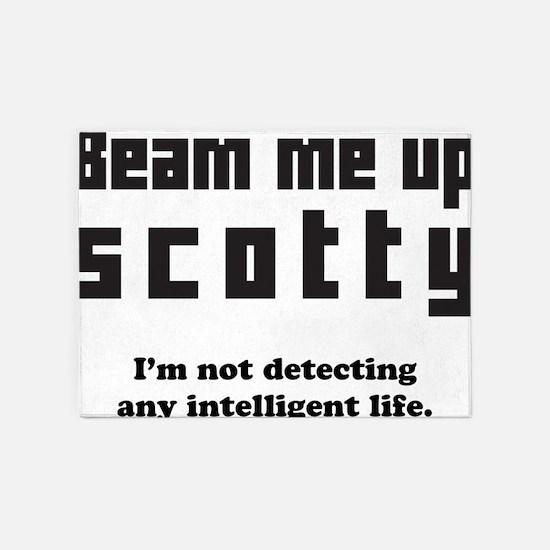 beam me up scotty 5'x7'Area Rug