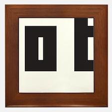 beam me up scotty Framed Tile