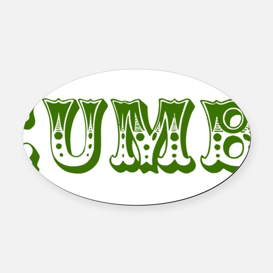 cucumber in a womens prison2 Oval Car Magnet