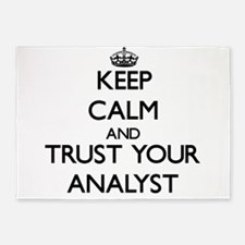 Keep Calm and Trust Your Analyst 5'x7'Area Rug