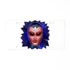 Blue Alien Mental Energy Aluminum License Plate