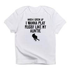 Play Rugby Like My Auntie Infant T-Shirt