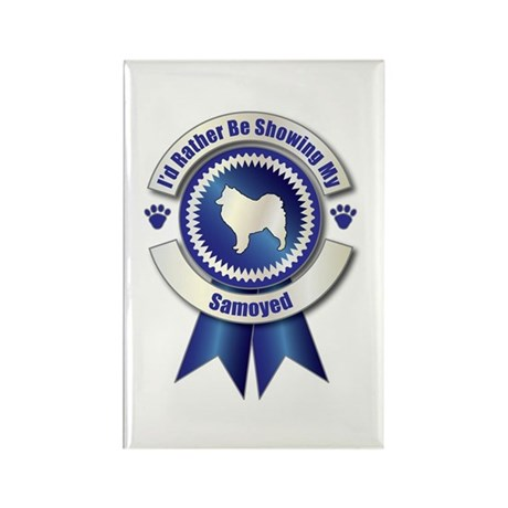 Showing Samoyed Rectangle Magnet (10 pack)