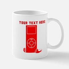 Custom Red MP3 Player Mugs