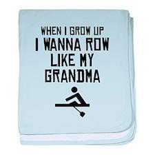 Row Like My Grandma baby blanket