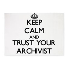 Keep Calm and Trust Your Archivist 5'x7'Area Rug