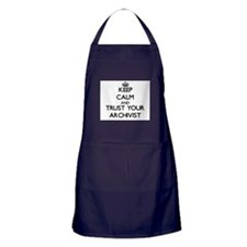 Keep Calm and Trust Your Archivist Apron (dark)