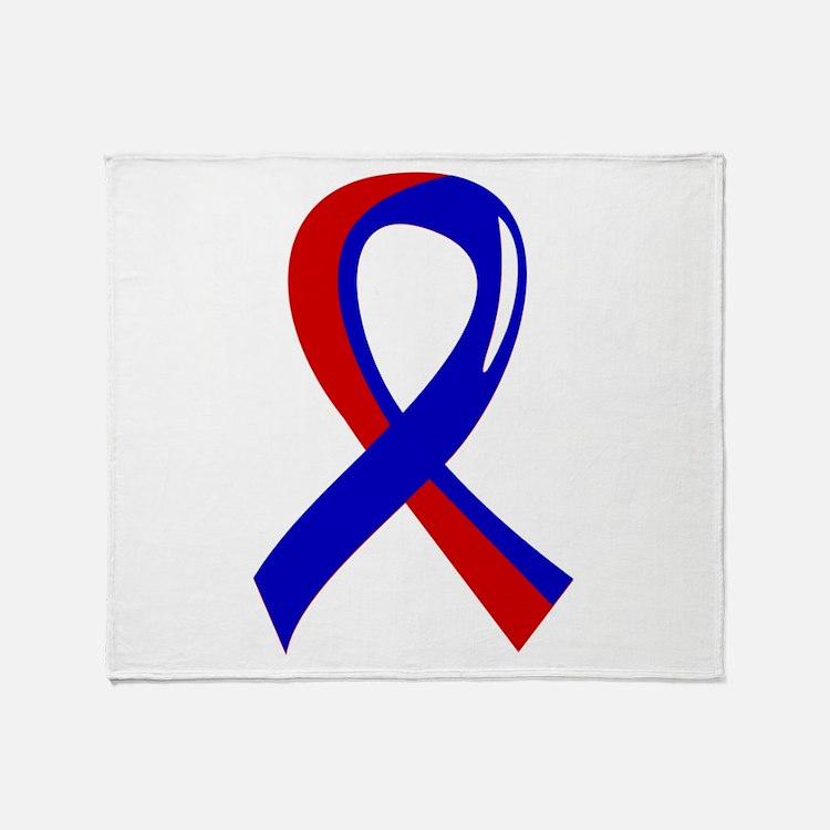 CHD Ribbon3 Throw Blanket