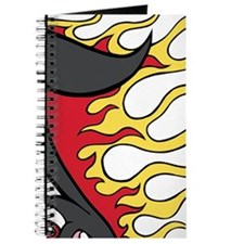 Custom Flaming Music Note Journal