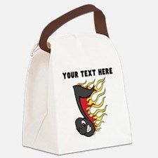 Custom Flaming Music Note Canvas Lunch Bag