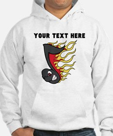 Custom Flaming Music Note Jumper Hoody