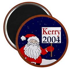 Santa Supports John Kerry Magnet