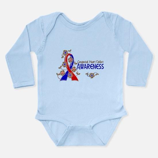 CHD Awareness 6 Long Sleeve Infant Bodysuit