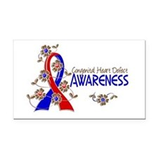 CHD Awareness 6 Rectangle Car Magnet