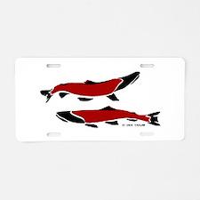 RedBlack Aluminum License Plate
