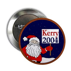 Santa Supports John Kerry Button 10 pack