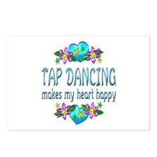 Tap Dancing Heart Happy Postcards (Package of 8)