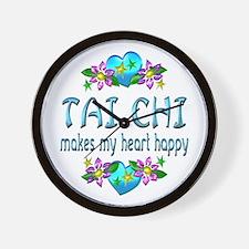Tai Chi Heart Happy Wall Clock