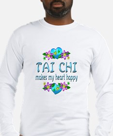 Tai Chi Heart Happy Long Sleeve T-Shirt