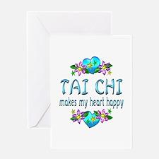 Tai Chi Heart Happy Greeting Card