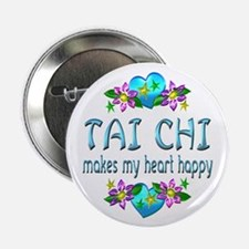 "Tai Chi Heart Happy 2.25"" Button (100 pack)"