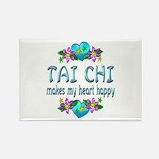 Tai Chi Heart Happy Rectangle Magnet (10 pack)