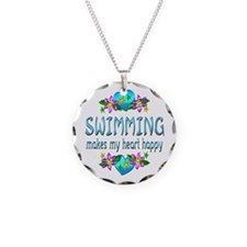 Swimming Heart Happy Necklace