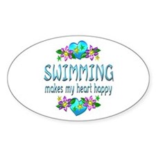 Swimming Heart Happy Decal