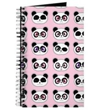 Cute Panda Expression Pink Journal