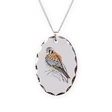 Watercolor Kestrel Falcon Bird Necklace