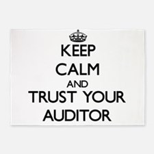 Keep Calm and Trust Your Auditor 5'x7'Area Rug