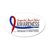 Chd awareness ribbon Oval Car Magnets