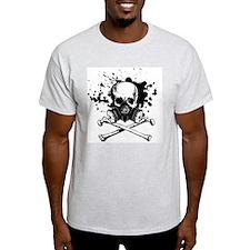 Gas Mask Jolly Roger Black T-Shirt