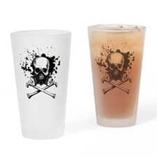 Gas Mask Jolly Roger Black Drinking Glass