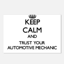 Keep Calm and Trust Your Automotive Mechanic Postc