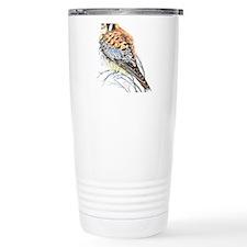 Watercolor Kestrel Falcon Bird art Travel Mug