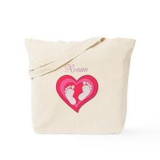 Baby Footprint Heart Tote Bag