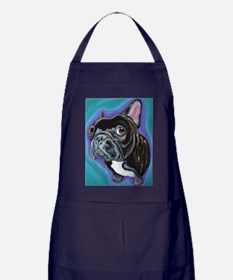 Black Brindle French Bulldog Apron (dark)