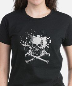 Jolly Roger Gas Mask White Tee