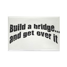 Build a bridge Rectangle Magnet