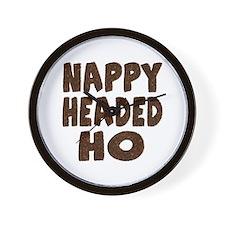 Nappy Headed Ho Hairy Design Wall Clock
