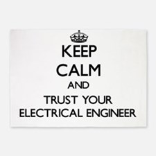 Keep Calm and Trust Your Electrical Engineer 5'x7'