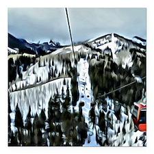 "Gondola at the Canyons R Square Car Magnet 3"" x 3"""