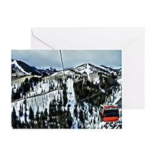 Gondola at the Canyons Resort Greeting Card