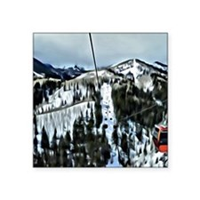 """Gondola at the Canyons Reso Square Sticker 3"""" x 3"""""""
