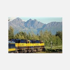 Alaska Railroad locomotive engine Rectangle Magnet