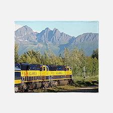 Alaska Railroad locomotive engine &  Throw Blanket