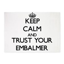 Keep Calm and Trust Your Embalmer 5'x7'Area Rug