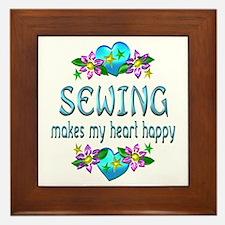 Sewing Heart Happy Framed Tile